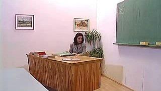 Mature Teacher With Mini Skirt Fucked in Class