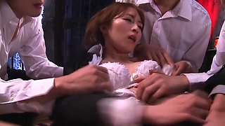Amazing Japanese girl Miku Ohashi in Horny group sex, skinny JAV video