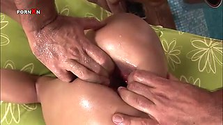 intense anal sex accompanied by rough fisting