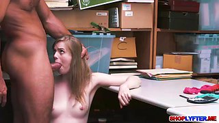 Shoplifting babe Dolly punished for a hot fuck