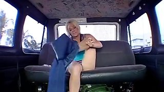 Slutty Dude Teases And Pokes A Picked Up Bab In A Bus