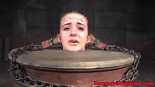 Heeled bdsm teen dominated while in chains