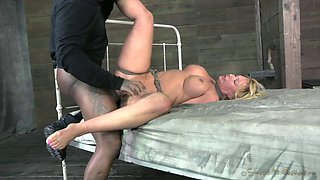 Bootylicious blonde and the black cock in the BDSM adventure