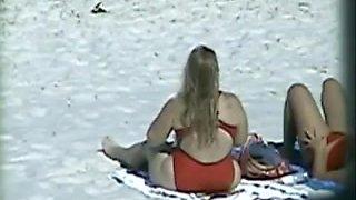 Spying Mature Big Butt - Beach Ass Voyeur - Candid Booty
