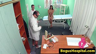 Inked euro patient fucked deeply by dr