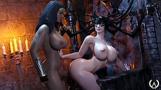 3D Futanari Wonder Woman Fucks Hela