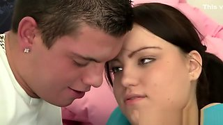 Busty ponytailed teen nailed in the bedroom