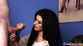 Clothed office domina