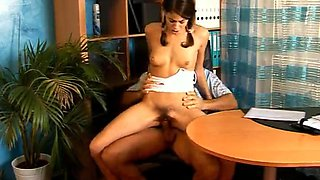 Pretty Teen Gets Banged By Her Horny Boss