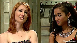 Fabulous lesbian, fisting sex scene with amazing pornstars Maitresse Madeline Marlowe and Skin Diamond from Whippedass
