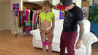 Insatiable fucker Bryan Gozzling bangs nice teen Paige Owens in mouth and pussy