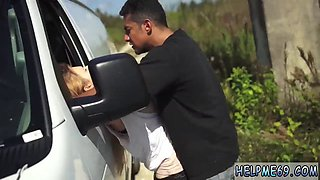 Dirty teen gets smashed hard by a horny dude doggy style