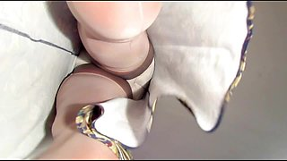 Cream Seams & White Undies 1045vo