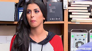 Sophia Leone punish fucked in a store for stealing stuff