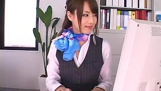 Hottest Japanese whore Akiho Yoshizawa in Crazy Solo Girl, Office JAV clip