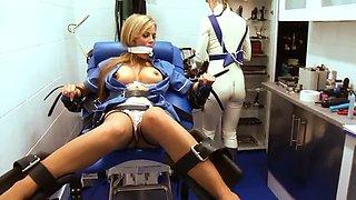 blonde tied by nurse