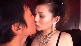 Hottest Japanese chick Erika Kurisu, Ameri Ichinose in Fabulous Swallow/Gokkun, Lingerie JAV clip
