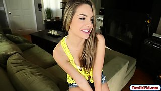 Guy sucked off by and fucking his babysitter Kimmy Granger