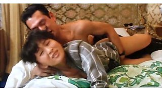 Awesome sex with sexy and kinky asian babe in he bedroom