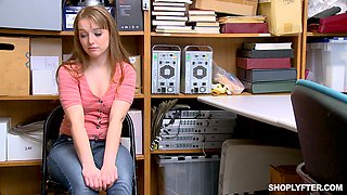 Forced office fuck for blonde teen babe Cleo Clementine