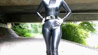 Exotic amateur Latex, Outdoor xxx movie