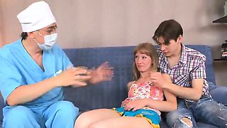 Doc watches hymen check-up and virgin kitten plowing551ZqP