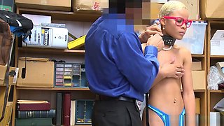 Black Skinny Teen Punished For Stealing And Got Fucked