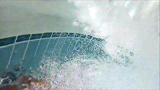 Under Water Fun In The Pool