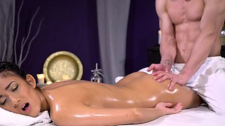 Massage Rooms Skinny with big tits dark skin