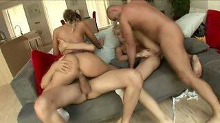 Sexy Defrancesca Gallardo is a big reverse cowgirl fan and she loves group sex