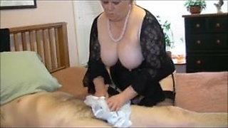 Giving sissy boy a pantie handjob, suck and good hard fuck