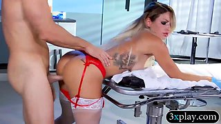 Kinky big boobs blond nurse gets banged in the hospital