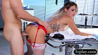 Kinky big boobs blond nurse gets banged in the hospital