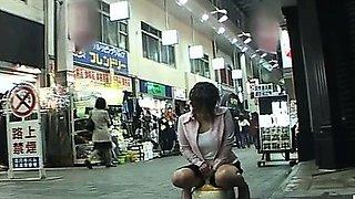 Subtitled Japanese public arcade training toilet prank