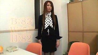 Hottest Japanese whore in Fabulous Secretary, Stockings/Pansuto JAV scene