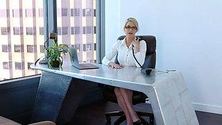 My hot blonde MILF boss