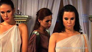 Voyeur Mistress Watches On Lesbian Slaves In Orgy