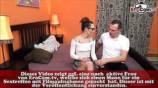german skinny secretary milf with glasses first time casting