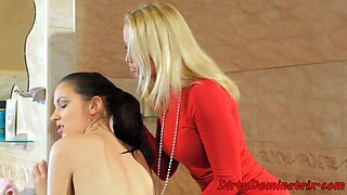 euro babe spanked and dominated