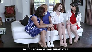 DaughterSwap - Two Hot Moms Share Their Teen Bi Daughters