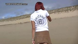 nudist teen flashing at beach