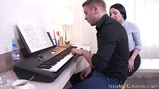 Erica gets her pussy plowed by her piano teacher