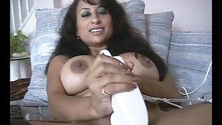 Hot Indian lady stockings footjob