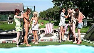 Pool CFNM party