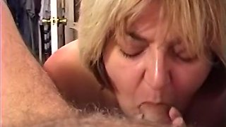 Amateur MILF Wife - Sucking Cock & Swallowing a Load of Cum