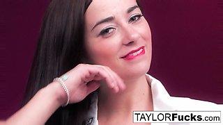 Nurse Taylor plays with her big boobs