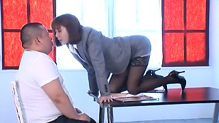Exotic Japanese chick Yuma Asami in Crazy Cunnilingus, Cougar JAV video