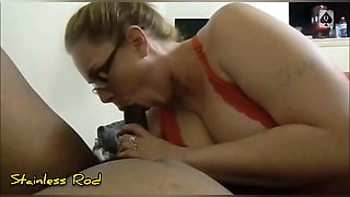 QoS Whore wife Shows Talks How to Suck a Big Black King Cock