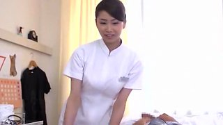 Incredible Japanese chick Arisu Tsukishima, Riri Kuribayashi, Megumi Shino in Best Nurse, Big Tits JAV clip