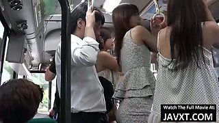 Japan babes fucked on the bus